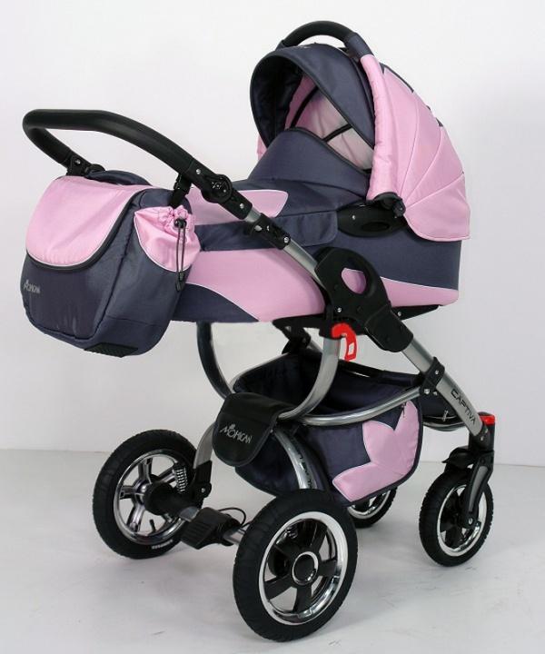 фото розовой польской коляски Tako Captiva Mohican 2 в 1