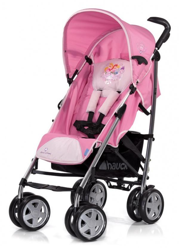 розовая немецкая коляска Hauck Rio Disney