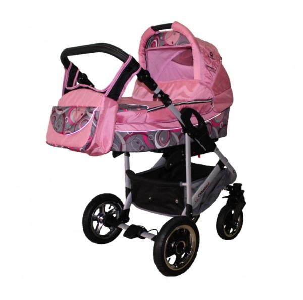 розовая коляска Camarelo Q12 Cosmo 2 в 1
