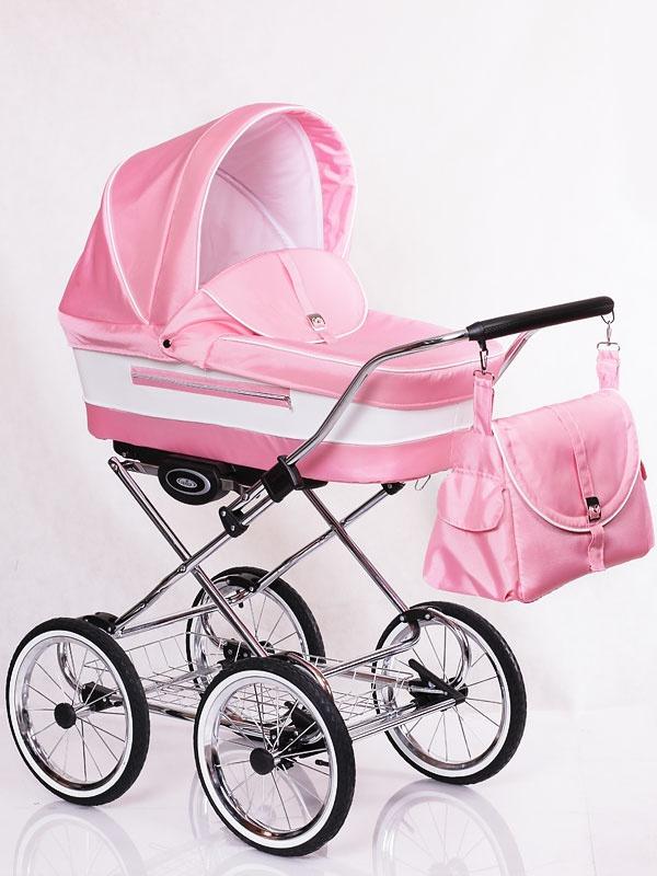 розовая коляска Lonex Classic Ecco 2 в 1