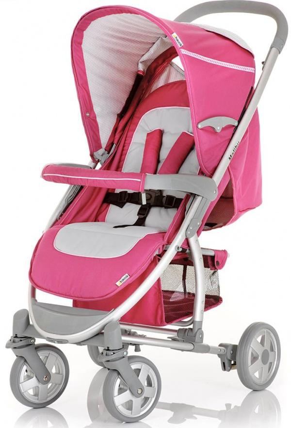 розовая коляска трость hauck malibu
