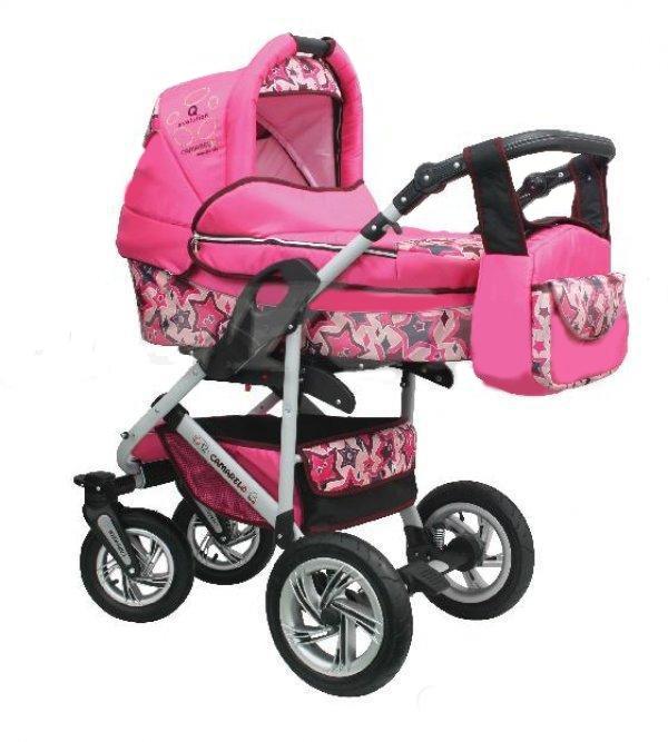 фотография розовой коляски Camarelo Q12 Evolution 2 в 1