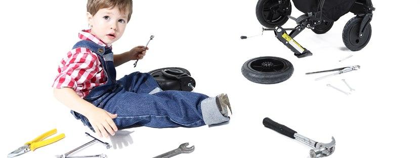 Ремонт колеса на коляске